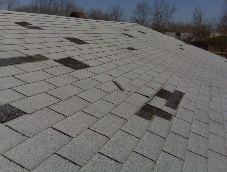 Wind Damaged shingles canonsburg-pa-15317